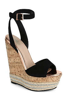 CJG SHOES Miami suede wedge sandals