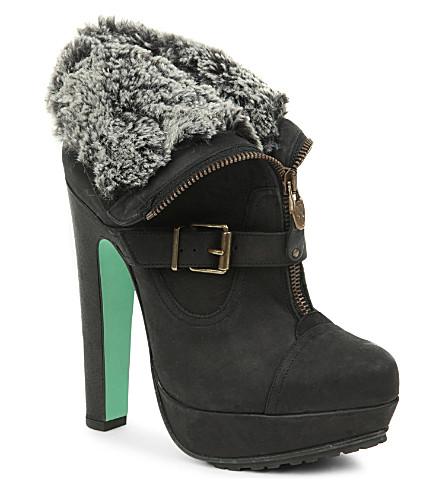 CJG SHOES Midnight Hour platform ankle boots (Black