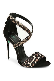 CJG SHOES Sound Bite leopard print stiletto sandals