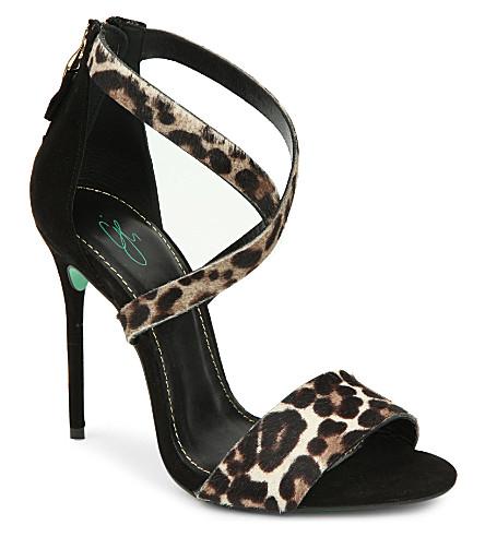 CJG SHOES Sound Bite leopard print stiletto sandals (Black