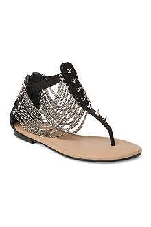 CJG SHOES Black Cat leather sandals