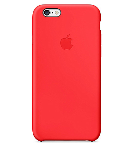 APPLE iPhone 6 silicone case red (Red