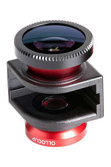 OLLOCLIP 3-in-1 lens for iPhone 5/5s Red