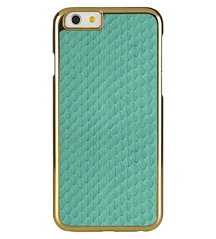 PIPETTO Iphone 6 exotic snap turquoise (Turquoise