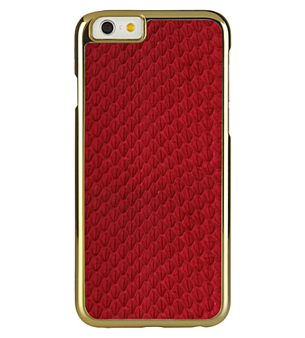 PIPETTO Iphone 6 exotic snap red (Red