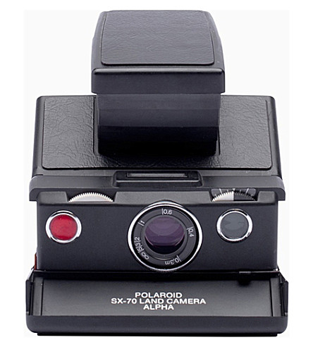 IMPOSSIBLE SX-70 Polaroid Alpha camera black