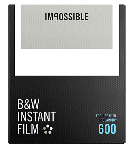 IMPOSSIBLE B&W film for 600-type cameras