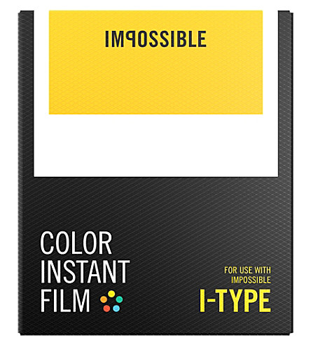 IMPOSSIBLE Color film for i-type cameras