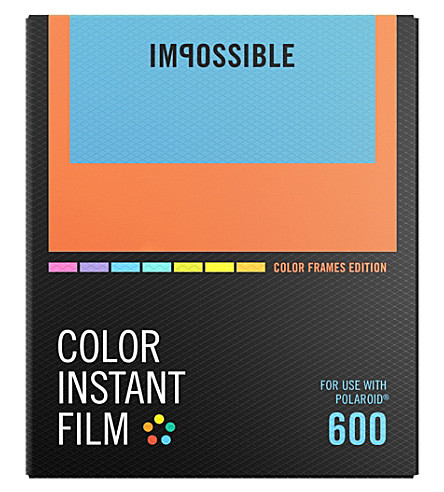 IMPOSSIBLE Color film for 600-types with color frames