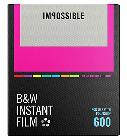 IMPOSSIBLE B&W film for 600-types with hard color frames