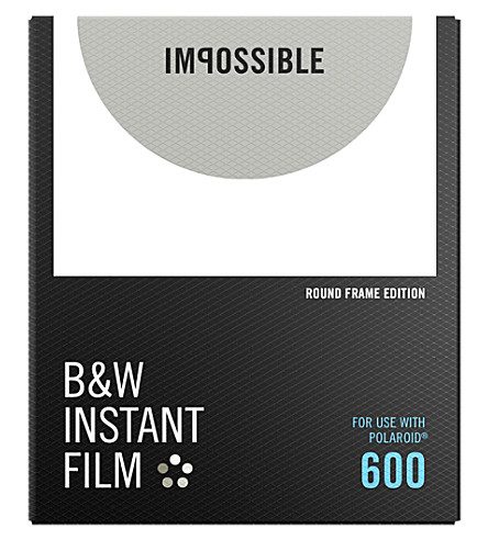 POLAROID ORIGINALS B&W Film for 600 Round Frame
