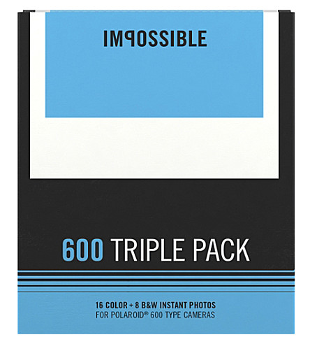 IMPOSSIBLE Polaroid 600 film triple pack