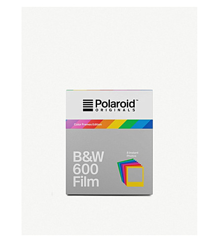 POLAROID ORIGINALS Black & White 600 instant film with colour frames