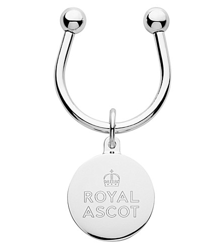 LINKS OF LONDON Ascot silver-plated disc keyring