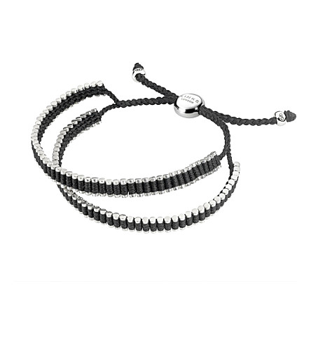 LINKS OF LONDON DOUBLE WRAP FRIENDSHIP BRACELET - BLACK
