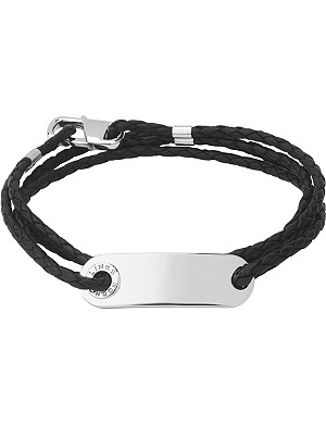 LINKS OF LONDON Soho ID leather and sterling silver bracelet