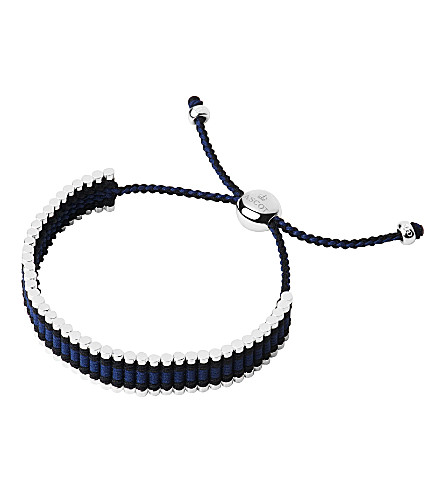 LINKS OF LONDON Ascot sterling silver and cord friendship bracelet
