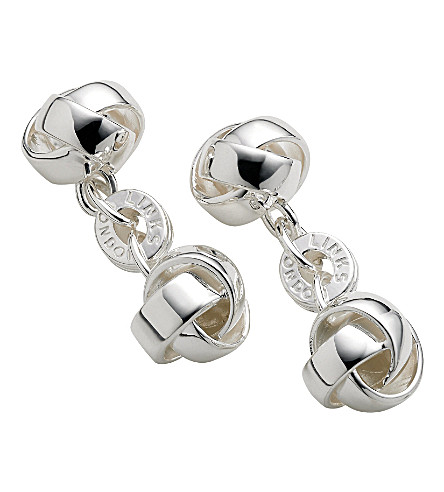LINKS OF LONDON Knot sterling silver cufflinks