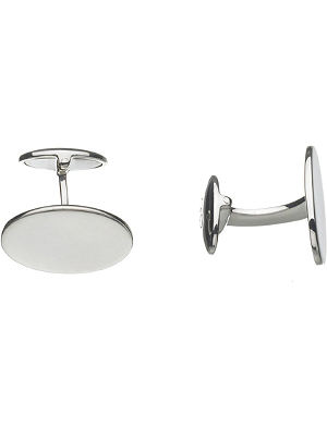 LINKS OF LONDON Classic oval T-bar sterling silver cufflinks