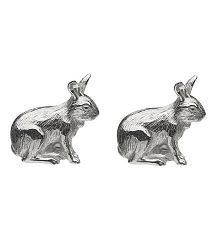 LINKS OF LONDON Tortoise and Hare sterling silver cufflinks