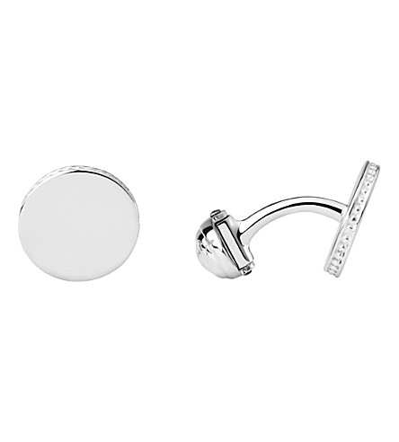 LINKS OF LONDON Narrative sterling silver round cufflinks