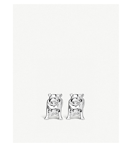 LINKS OF LONDON Bulldog sterling silver cufflinks