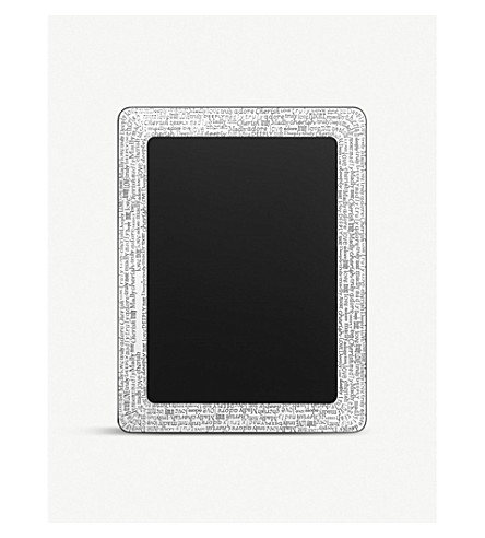 LINKS OF LONDON Engraved words silver-plated photo frame (1.9'' x 2.7'')