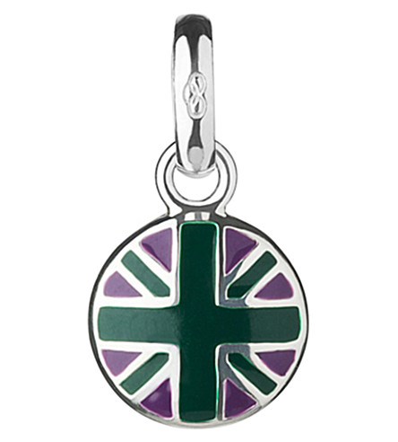 LINKS OF LONDON Wimbledon Round Union Jack sterling-silver charm