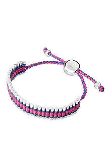 LINKS OF LONDON Friendship bracelet navy and fuchsia