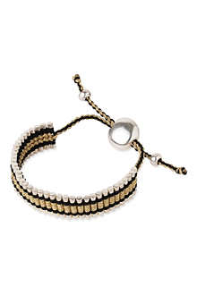 LINKS OF LONDON Friendship bracelet gold and black