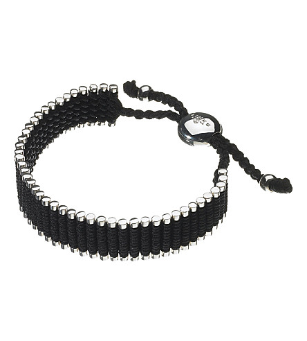 LINKS OF LONDON Wide friendship bracelet - black