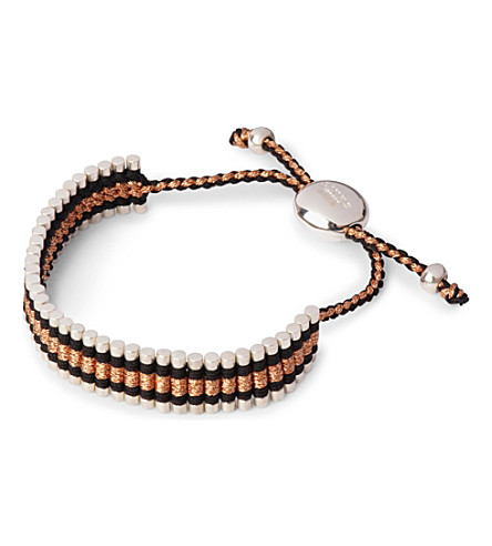 LINKS OF LONDON Friendship bracelet black and copper