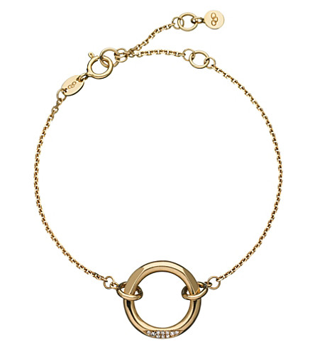 LINKS OF LONDON 18ct yellow-gold and diamond 20-20 solo bracelet
