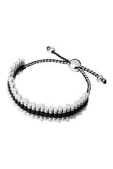 LINKS OF LONDON Friendship bracelet black and grey