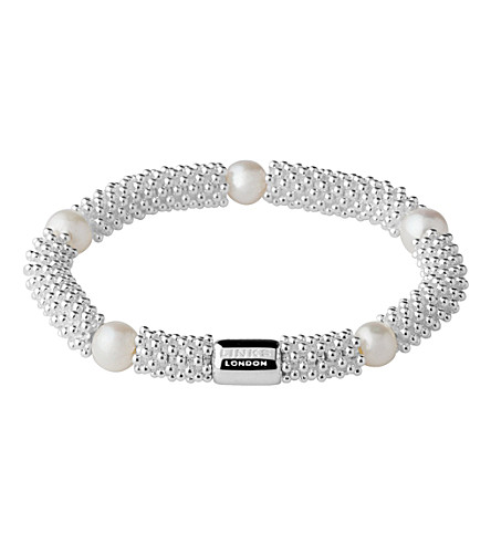 LINKS OF LONDON Effervescence Star sterling silver pearl bracelet