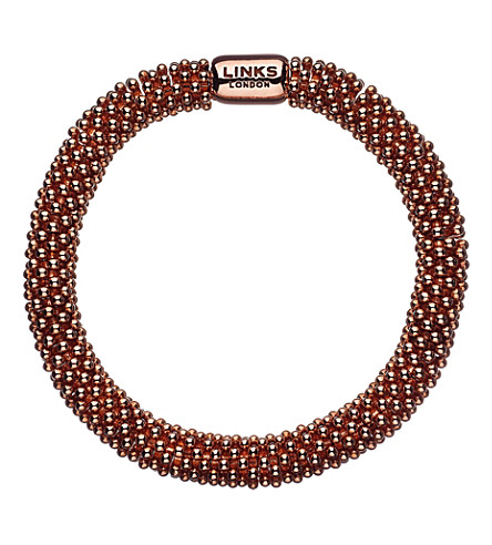 LINKS OF LONDON Effervescence star rose-gold plated bracelet (Rose+gold