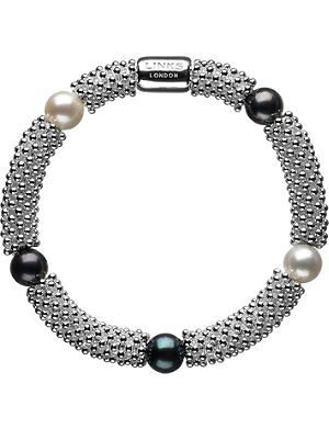 LINKS OF LONDON Effervescence Star sterling silver pearl bracelet