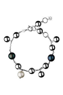 LINKS OF LONDON Effervescence sterling silver pearl bracelet