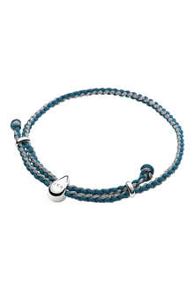LINKS OF LONDON Feed turquoise & pewter cord bracelet