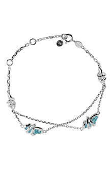 LINKS OF LONDON Entwine blue topaz and sterling silver bracelet