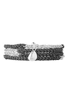 LINKS OF LONDON Black charm wrap bracelet