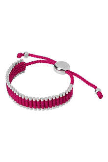 LINKS OF LONDON Sterling silver friendship bracelet in pink