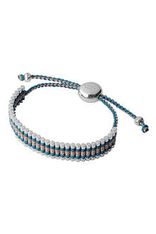 LINKS OF LONDON Sterling silver friendship bracelet in turquoise and copper