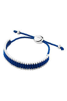 LINKS OF LONDON Sterling silver friendship bracelet in blue