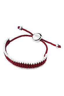 LINKS OF LONDON Sterling silver friendship bracelet in rasberry