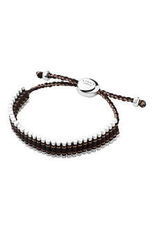 LINKS OF LONDON Sterling silver friendship bracelet in brown and copper glitter