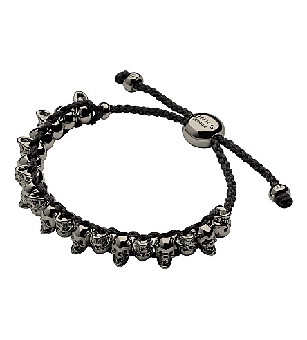 LINKS OF LONDON Skull sterling silver friendship bracelet