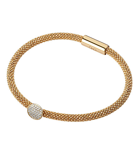LINKS OF LONDON Star Dust round bracelet (Gold+plated+silver