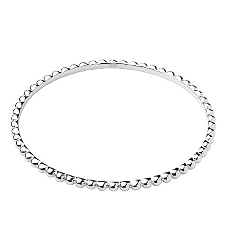LINKS OF LONDON Effervescence Essentials sterling silver bangle (Silver