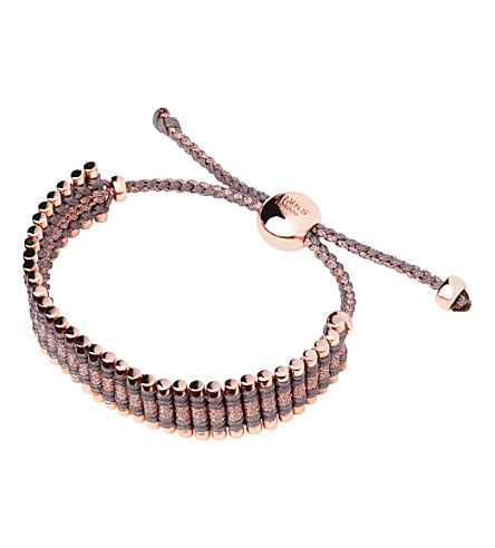 LINKS OF LONDON Rose gold taupe and copper friendship bracelet (Multi